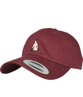 Casquette Incurvée Turn Up Broke Dad Bordeaux