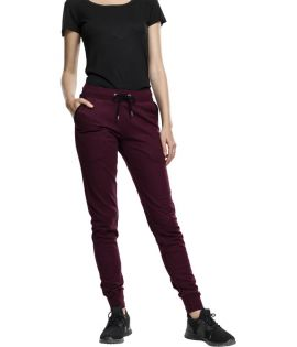 Jogging Urban Classics Femme Athletic Melange Bordeaux Noir