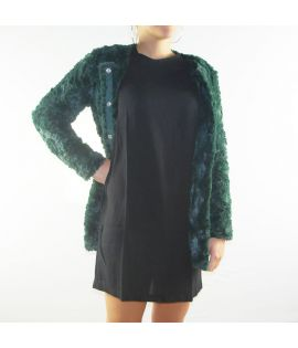 Veste Femme Vero Moda Curl Long Fake Fur Jacket Vert Fourrure