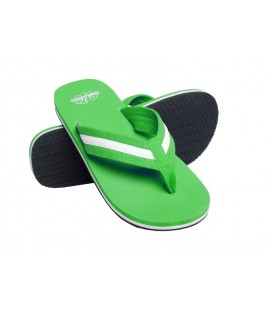 Tongs URBAN CLASSICS Vert lime-Blanc Beach Slippers Tongue
