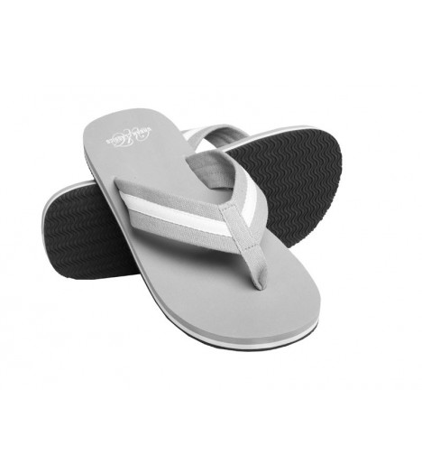 Tongs URBAN CLASSICS Gris-Blanc Beach Slippers Tongue
