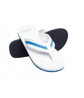Tongs URBAN CLASSICS Blanc-Turquoise Beach Slippers Tongue