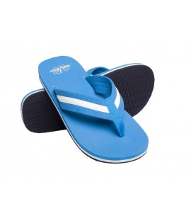Tongs URBAN CLASSICS Turquoise-Blanc Beach Slippers Tongue