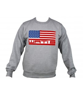 Sweat WATI B Logo USA Gris Crewneck by Sexion d'Assaut