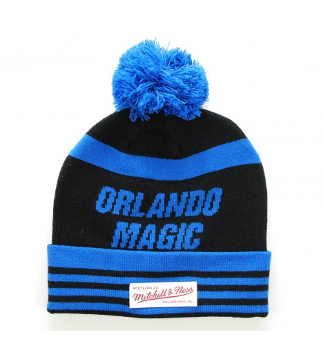 MITCHELL & NESS Bonnet Pompon Orlando MAGIC Bleu roi-Noir