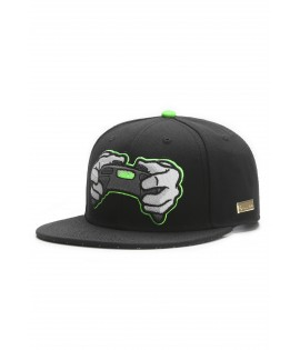 Casquette Hands Of Gold All Day Cap eSports Noir Vert Néon Snapback