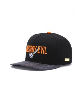 Casquette Hands Of Gold Destroy Evil Cap eSports Noir Orange