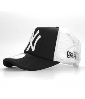 NEW ERA Snapback Trucker NY YANKEES Noir Casquette à filet Ajustable