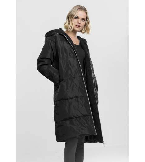 Doudoune Longue Urban Classics Oversized Hooded Puffer Coat Noir
