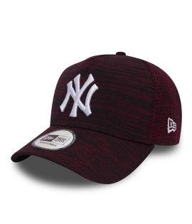 Casquette Trucker New Era New York Yankees Engineered Fit Bordeaux Mesh