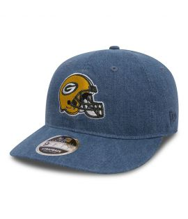 Casquette New Era Green Bay Packers NFL Team Helmet Low Profile 9Forty Denim Image