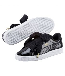 Chaussures Puma Basket Patent Heart Glam Noir Do You