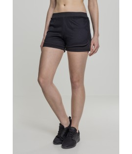 Short court en mesh double couche