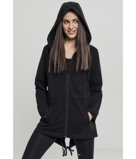 Sweat à capuche long parka