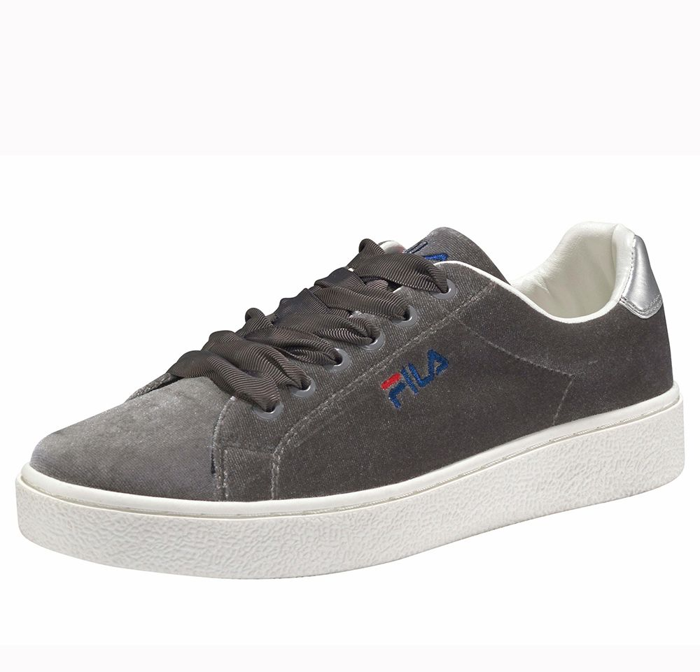 Low Gris Upstage Chaussures Fila V Velours Femme gwqF0gI