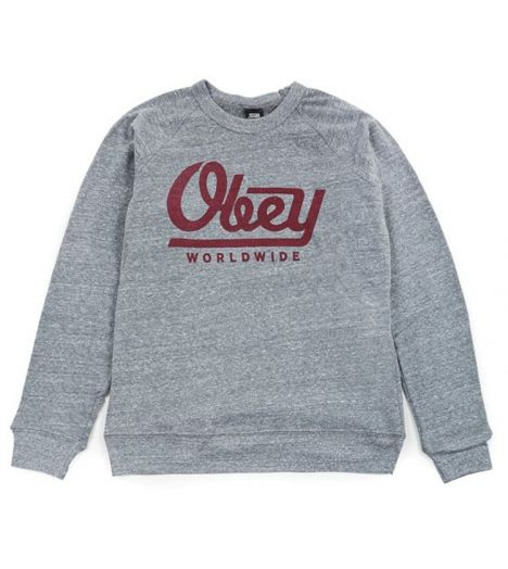 Sweat Capuche Obey Le Worldwide Gris Hoody