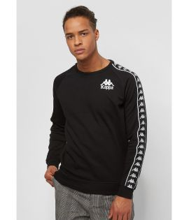 Sweat crewneck slim fit rétro avec bandes HASSAN
