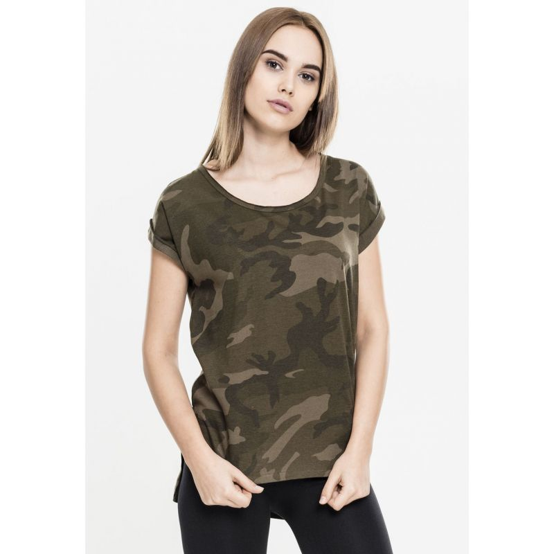 tee shirt long femme urban classics olive camouflage shaped. Black Bedroom Furniture Sets. Home Design Ideas