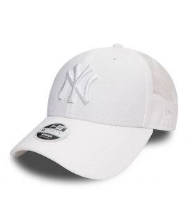 Casquette Filet Incurvée Femme New Era New York Yankees Sport Mesh 9Forty Blanc
