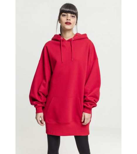 Sweat Capuche Long Femme Urban Classics Rouge