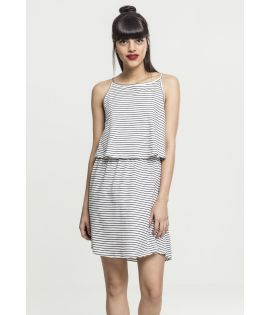 Ladies 2-Layer Spaghetti Dress offwhite/blk L