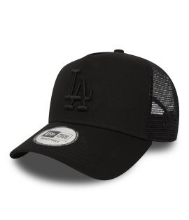 Casquette Trucker New Era Los Angeles Dodgers Noir Filet