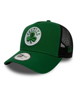 Casquette Trucker New Era Boston Celtics Vert Filet