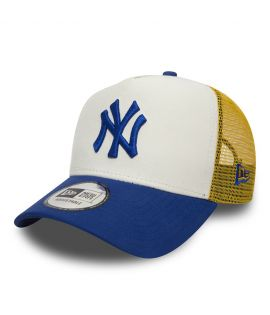 Casquette Trucker New Era New York Yankees Trucker Bleu Blanc Jaune