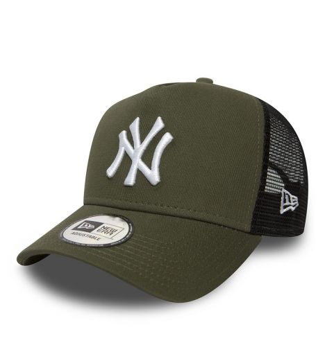 Casquette Filet New Era New York Yankees Trucker Olive