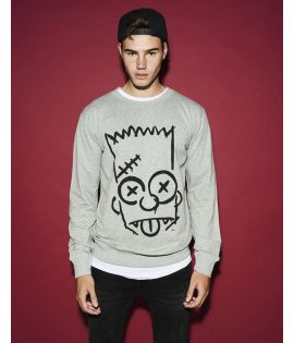 Simpsons Graphity Crewneck h.grey L