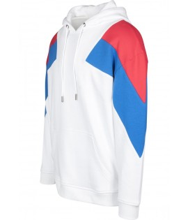 Sweat capuche oversize TRICOLORE