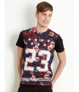 T-shirt Criminal Damage Frisco 23 Stars Flowers