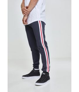 3-Tone Side Stripe Terry Pants navy/white/fire red L