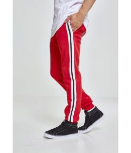 3-Tone Side Stripe Terry Pants firered/wht/blk L