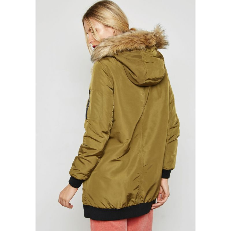 5fae9b21fdaa7 Parka Femme Vero Moda Dicte Fake Fur 3 4 Jacket Olive - Prestige Center