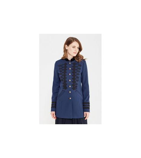 f18a1f4a5c1f5 Veste Mi-Longue Vero Moda Sign 3 4 Jacket Bleu Marine - Prestige Center