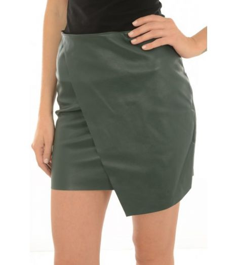 0e2eb7e28d075 Jupe Simili Vero Moda Sandra Short Butter Skirt Vert - Prestige Center