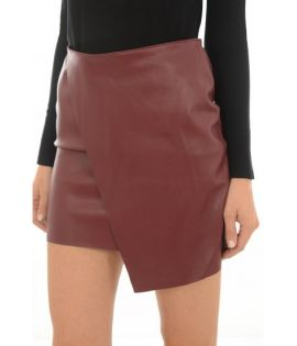 Jupe Simili Vero Moda Sandra Short Butter Skirt Bordeaux