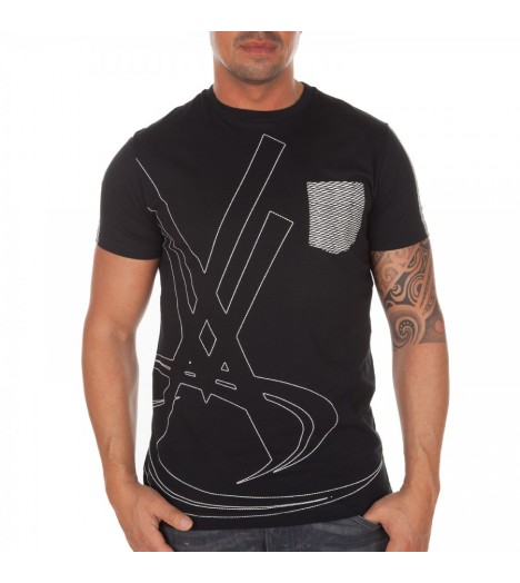 Pocket T-shirt Vortex Vx Mesh Noir by Maître Gims