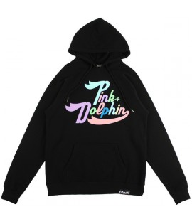 Sweat capuche Pink Dolphin Spring Script Hoody Noir