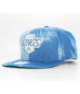 Casquette Mitchell & Ness Snapback Los Angeles Kings Bleu denim Dyed