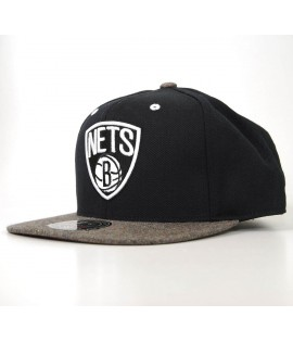 Casquette Mitchell & Ness Brooklyn Nets Fitted Noir