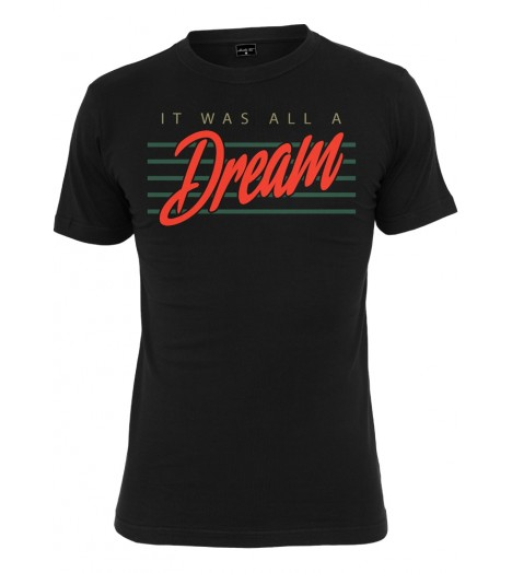 T-shirt MISTER TEE Noir It was all a dream