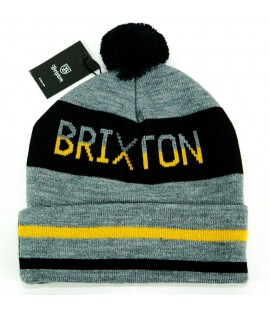Bonnet Brixton Fairmont Gris Noir Jaune Made in USA