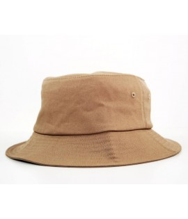 Bob Flexfit Beige Unicolore Basic Bucket Hat