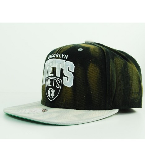 Casquette Mitchell & Ness Brooklyn Nets Noir - Gris Snapback Cycle