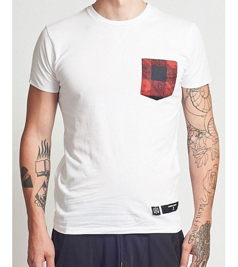Pocket T-shirt Criminal Damage Tarty Tee Blanc Rouge