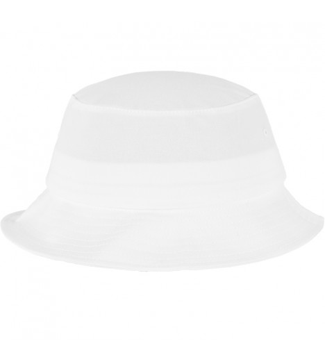 Bob Flexfit Blanc Unicolore Basic Bucket Hat