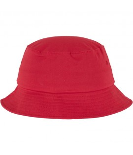 Bob Flexfit Rouge Unicolore Basic Bucket Hat