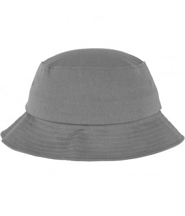 Bob Flexfit Gris Unicolore Basic Bucket Hat